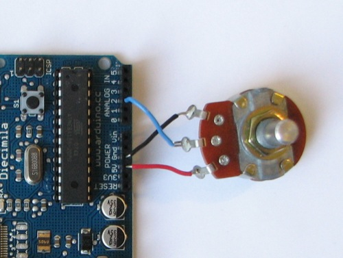 Uduino | Read an analog value